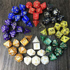 7X Polyhedral Acrylic Dungeons Dragons Dice Multiple Sides Role Playing GamesFEH