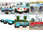 4/7/8/9pcs Patio Rattan Wicker Furniture Set Garden Sectional Couch Outdoor Sofa
