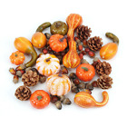Artificial Pumpkin Harvest Autumn Fall Thanksgiving Wreath Banquet Home Decor