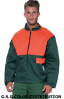 Jacket Mens Work Protection Chainsaw Col.verde/Orange Anti Cut Class 1