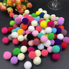 100Pcs 10-20mm Dia Pom Poms Pompoms Balls Bobbles DIY Craft Colourful Decor