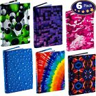 """Stretchable Book Cover Design 6 Pack. 9 x 11"""" (Jumbo)"""