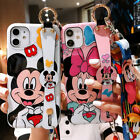 Minnie Mickey Mouse Stitch Glossy Wristband Add LanyardCase For iPhone 12 Pro 11