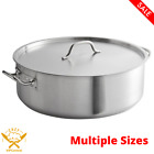 Stainless Steel Aluminum-Clad Heavy-Duty Brazier with Cover New MULTIPLE SIZES