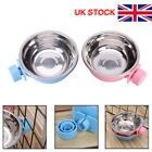 Hang-on Bowl Metal For Pet Cat Dog Crate Cage Food Water Bowl Stainless Steel