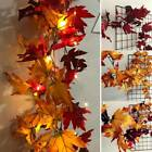 Halloween LED Light Autumn Garland Hanging Fall Maple Leaf Plant Home Decoration