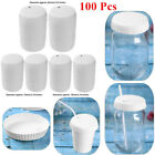 100Pcs Disposable Paper Cup Cover Drinking Lid for Coffee Shops Hotel KTV Bar