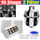15 Stage Shower Head Filter Purifier with Filter for Hard Water Softener