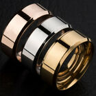 Fashion Unisex Lovers Stainless Steel Mirror Finger Rings Jewelry Gifts