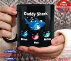 Daddy shark gift daddy shark black mug fathers day shark gift Gift for daddy ...