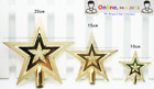 Christmas Tree Top Sparkle Gold New Star s Hang Xmas Decoration Ornament Topper