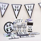 Tableware Decor Happy Birthday Panda Theme Tablecloth Popcorn Box Banners