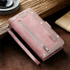 Zipper 9 Card Wallet Leather Flip Case Cover For Xiaomi Redmi Note 9S Note 9 Pro