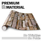9.8ft 3D Wallpaper Brick Pattern Self-adhesive Stone Stickers Background Wall US