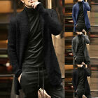 Mens Winter Warm Knitted Sweater Long Sleeve Cardigan Jacket Outwear Trench Coat