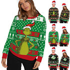 Unisex Matching * Sweatshirt ▪ Grinch Sweater Jumpers Pullover Casual