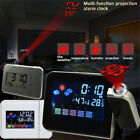 LED Projection Digital Weather Station LCD Snooze Alarm Clock Color Display