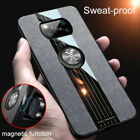 For Xiaomi Poco X3 NFC Shockproof Magnetic TPU Leather Case Ring Holder Cover