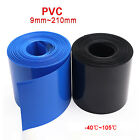 PVC Heat Shrink Tubing Wrap RC Battery Pack 9mm - 210mm Flat Size Black/Blue