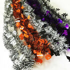 DI- 5Pcs 2m Ghost Witch Pumpkin Long Garland Tinsel Home Halloween Party Decor