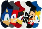 SONIC the HEDGEHOG SEGA 6-Pack Low Cut No Show Socks NWT Kids Ages 4-8  8-16