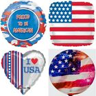 "Patriotic 18"" Flag July 4th Stars Stripes USA America Foil Mylar Party Balloons"