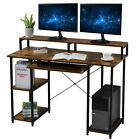 Large Computer Desk PC Laptop Study Table Home Office Workstation Shelf Gaming