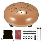 6'' 8 Notes Steel Tongue Drum G Tune Handpan Hand Tankdrum Mallets Yoga With Bag
