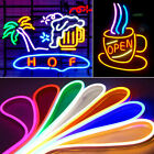 Led Neon Lamp Sign Beer Soft Flexible Tube Strip Rope Bar Decoration Sports