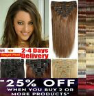 15 18 22 inch Real Quality Synthetic Clip In Hair Extensions Light Blonde Brown.