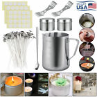 Candle Making Supplies Kit Pouring Pot Pre Waxed Wick Core Holder DIY Craft Tool