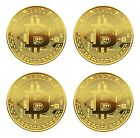 Crypto Currency Money Bitcoin Gold Coin And Gift Case Cash World US Blockchain