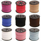 DIY Flat leather Genuine Thread Cord Making Jewellery 3mm Lace Suede Beading 3M
