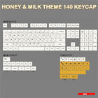PBT 140 Key Caps  XDA Height Home & Milk Theme For Cherry MX Keyboard