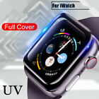 UV Tempered Glass Screen Protector For Apple Watch 38 40 42 44 MM SE Full Cover
