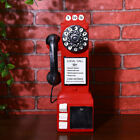 1950's Slot Pay Phone Model Vintage Booth Telephone Figurine Rotary Antique