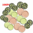 100PCS (Flat Linerless Double Sided Painted) Flattened Beer Bottle Caps DIY Gift
