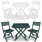 Vidaxl Garden Bistro Set 3 Piece Plastic Folding Table And Chairs White/green