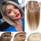 Pony Damen Remy Echthaar Toupet Clip In Real Human Hair Topper Haarteile Weich D