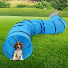 Collapsible Pet Agility Training Tunnel with Carry Bag and Stakes