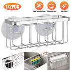 Sink Drain Filter Basket Strainer Shelf Storage Rack Sponge Holder Organizer New