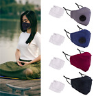 3 FACE MASK PROTECTIVE COVER WITH FILTER AIR VALVE BREATHABLE WASHABLE REUSABLE