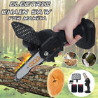 """4"""" 800W One-Hand Saw Electric Chain Saw Wood Cutter Cordless Set For Woodworking"""