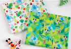 """Disney Cotton Fabric by the Yard Mickey Minnie Character Fabric 44"""" SG Elephant"""