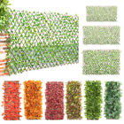 Garden Screening Expanding Trellis Fence Privacy Screen Artificial Leaves New