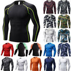 Men Long Sleeve Compression Cool Dry T-Shirt Base Layer GYM Sports Fitness Top