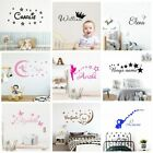 Cartoon Custom Wall Decal Personalized Names Home Decoration