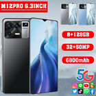 6.3'' Large Drop Screen Android 11.0 M12 Pro Smart Phone Dual Sim Card 8+128g Ho