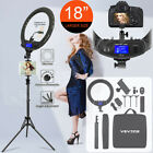 """18"""" LED Ring Light Kit with Stand Dimmable For Makeup Phone Camera Youtube"""