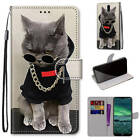For Nokia 3.4 Cartoons Painted Magnetic Leather Flip Wallet Bracket Case Cover